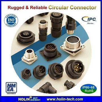 Circular Waterproof Connector for industrial applications under harsh enviroment