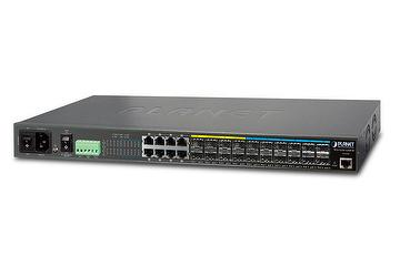 L2+ 12-Port 10GbE SFP+ Managed Switch with DC Redundant Power
