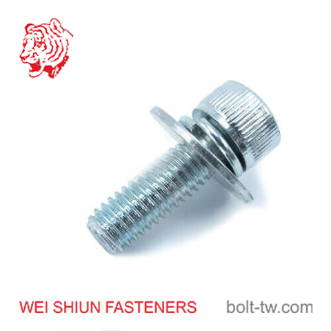 bolt iso 4762-iso 4762 washer integrated-cap screw m6x20