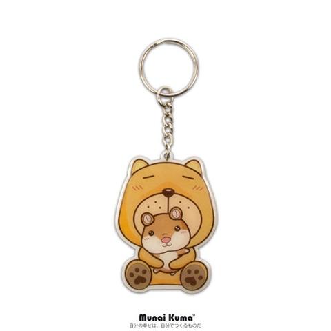 無奈熊 - 幸福禮盒  (鋼珠筆、心情語錄明信片書、鑰匙圈、手拿幸福萬用包)
