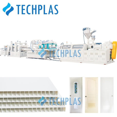 Taiwan PVC Door Extrusion Machine, PVC panel extrusion