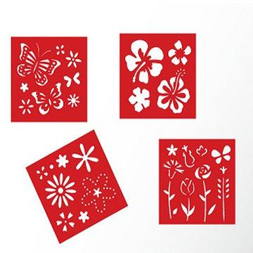 Stencil kit-Floral card making supplies