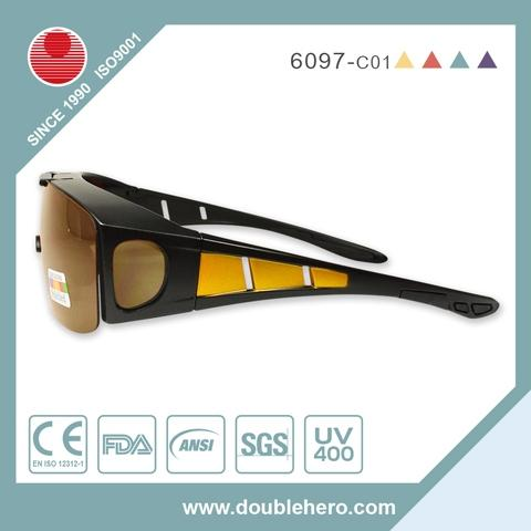 TAC polarized PC frame fit over fishing sunglasses