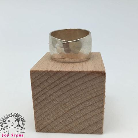 Adjustable Silver Nephrite Diamond shaped Markings Ring