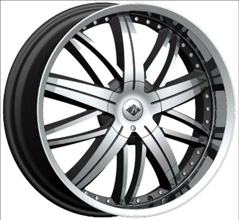 VB5 BLACK ICE 22X8.5 BLACK WITH CHROME
