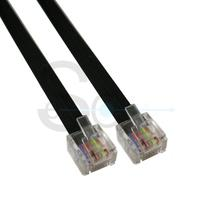 LAN UTP RJ45 8P8C Plug Short Type Flat Cable Black