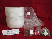 Nonwoven & mesh filter for pyramid tea bag