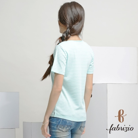 Hot Sale	factory Casual athletic wear Colored Ribbed short sleeve stripes taiwan Knitwear