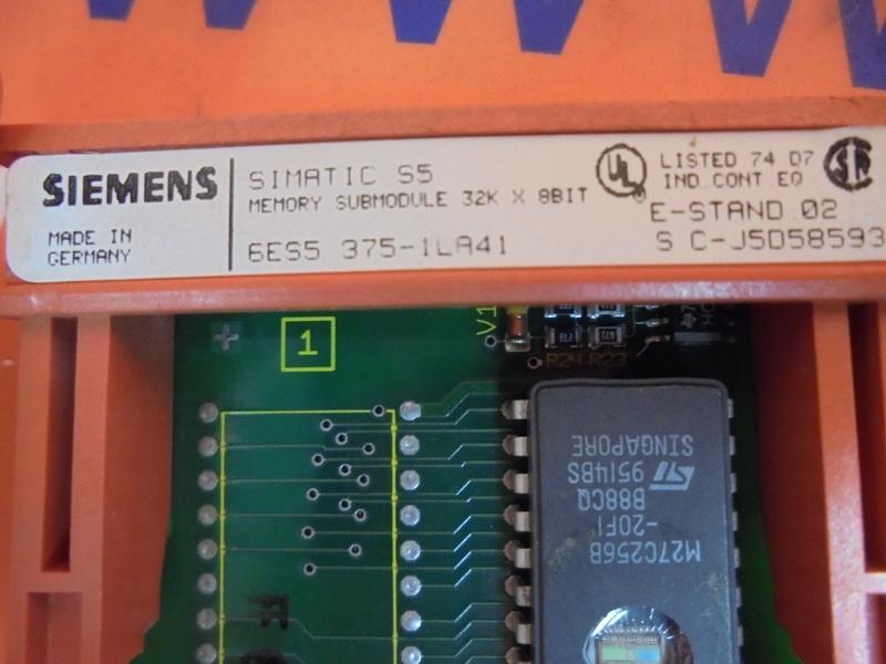 SIEMENS SIMATIC S5 6ES5375-1LA21 6ES5 375-1LA21 E-Stand 1 used