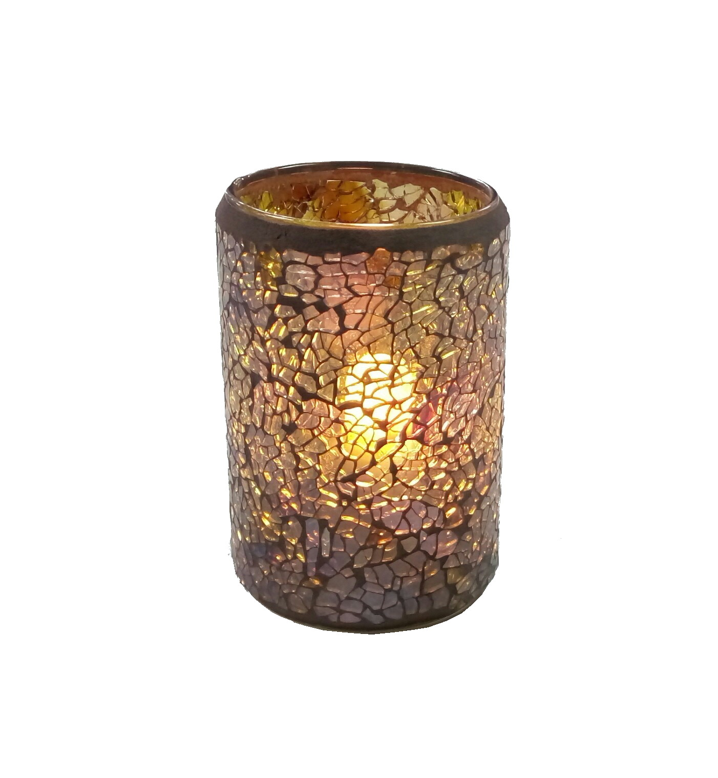 Glass mosaic candle holder fuel cell candle lamp