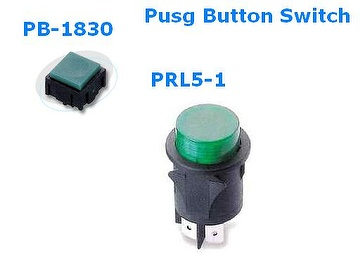PB1830 & PRL5-1 TYPE PUSH BUTTON SWITCH