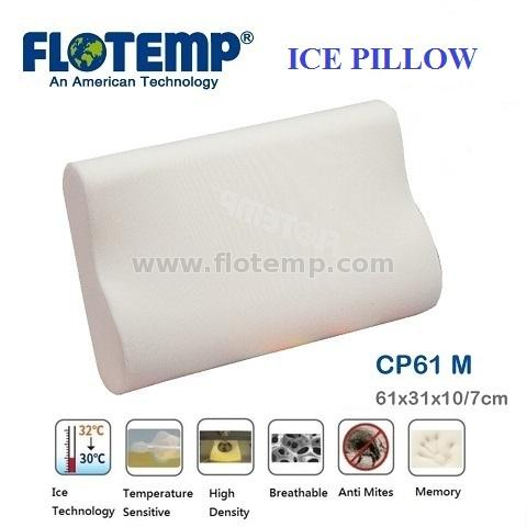 Pillow with Ice Temperature Sensitive Foam Flotemp HCP61M