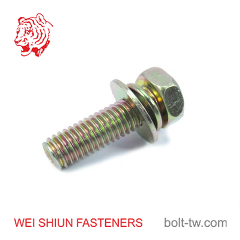 bolt hex phillips head-bolt m6x45-bolt washer