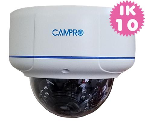 5.0MP HD-IP Vandal proof 30M IR POE Dome