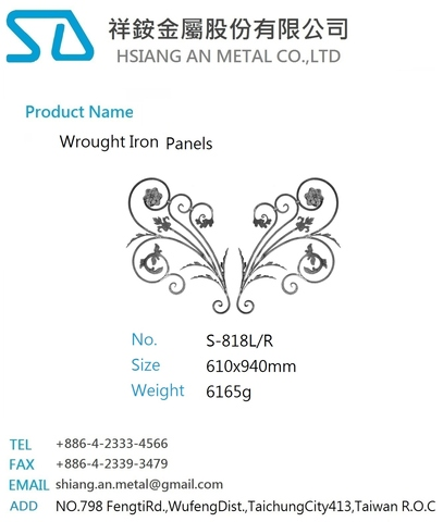 Wrought Iron Parts S Scroll and Panels