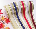 Metallic Christmas wired edge ribbon