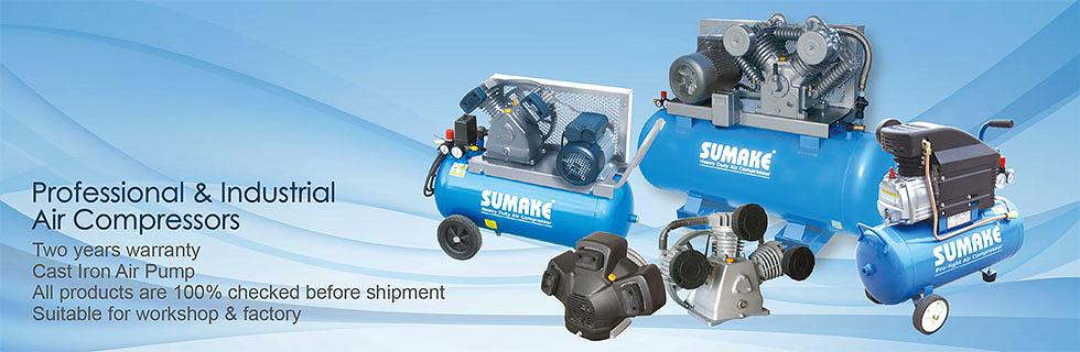 SUMAKE AIR COMPRESSOR and CAST IRON PUMP