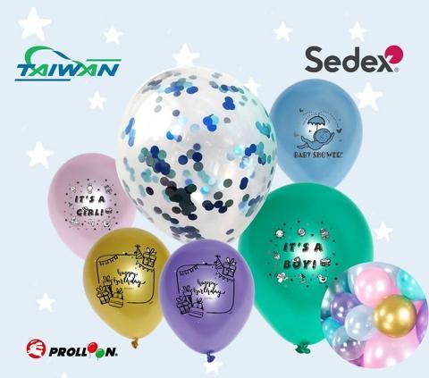ballon de confettis pour Noël