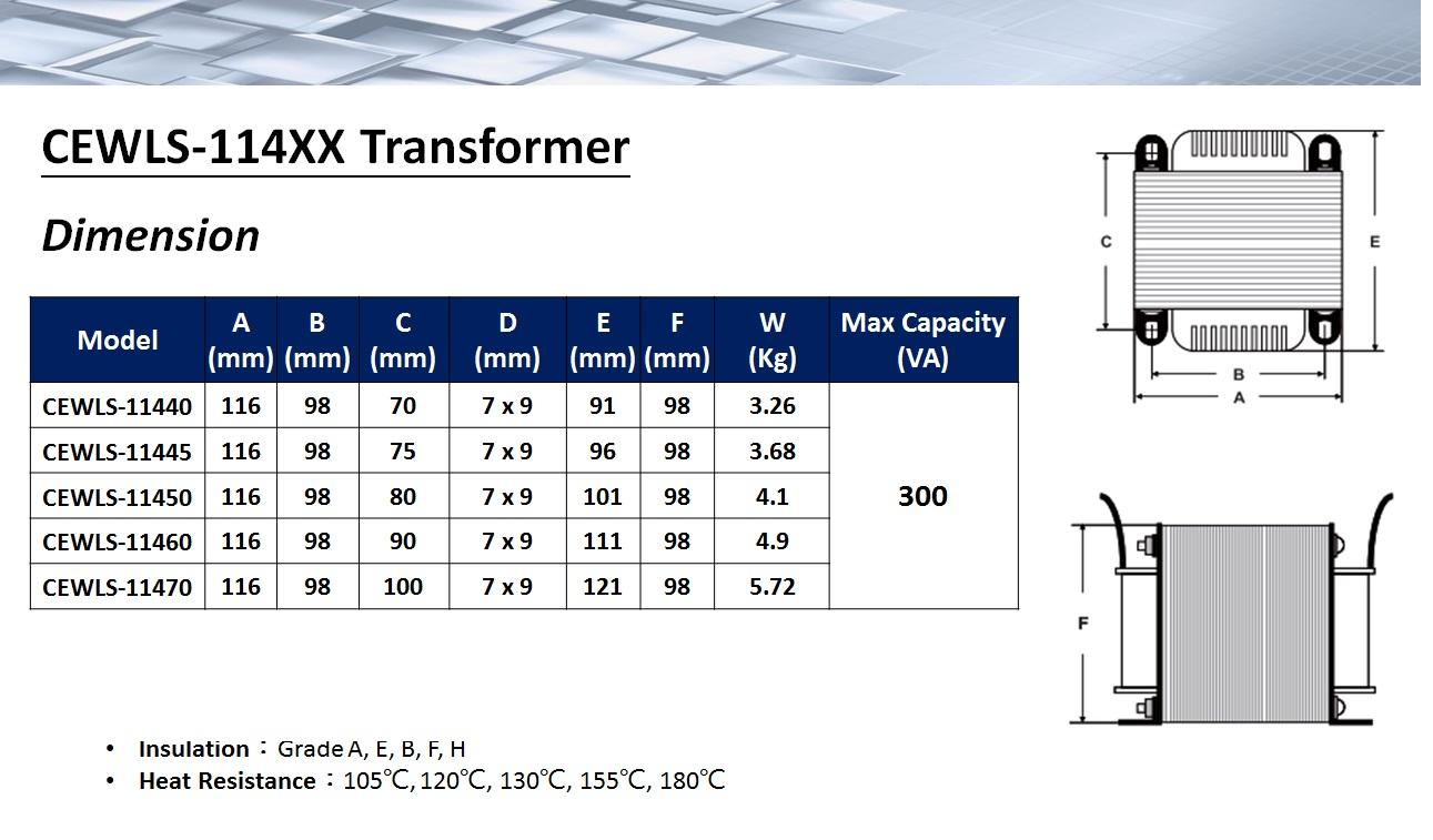 Power Transformer-- L-shaped Frame EI-114 Type