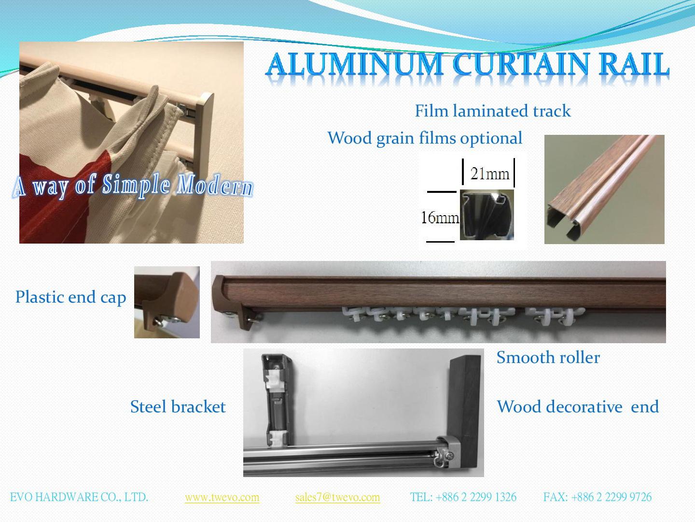 Decorative Curtain Rail type, lightweight , soundless   EVO ... on
