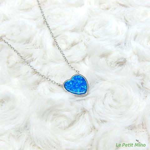Love Heart Silver Sideways Pendant Silver Necklace