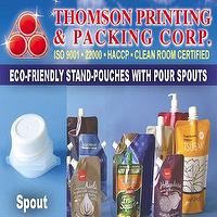 ECO-FRIENDLY STAND-POUCHES WITH POUR SPOUTS