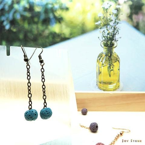 Dangle Diffuser Blue Aroma Rock Earrings with Tee Tree 3