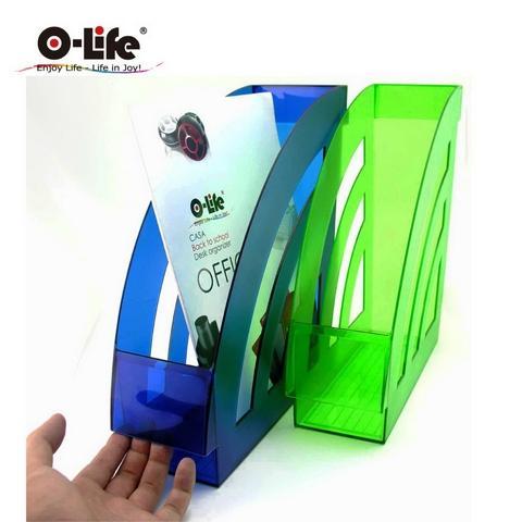 Magazine File Bookshelf Plastic Holder