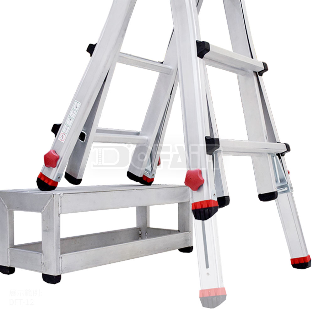 Taiwan 4ft 6 5ft Aluminum Telescopic Folding Ladder With