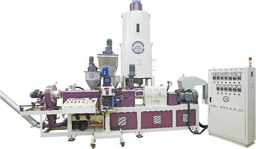 EKA-RC Series Twin Screw Recycle + Compounding Co-Rotary Twin Screw Extrusion Line