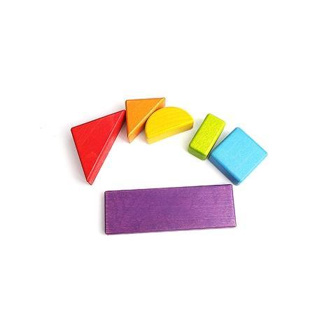6 Shap 6 Colors wooden block