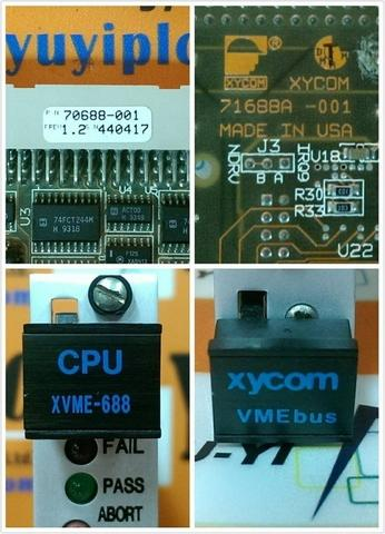 XYCOM CPU XVME-688 REV1.2 / 70688-001 VMEBUS BOARD