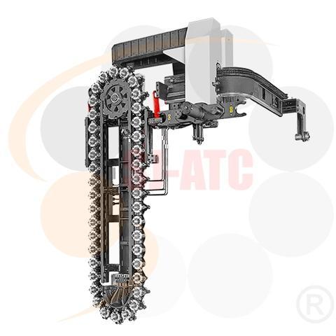 鏈條式油壓軌道機械手刀庫