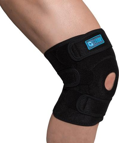 Adjustable Neoprene Knee Support Brace with Open Patella Stabilizers