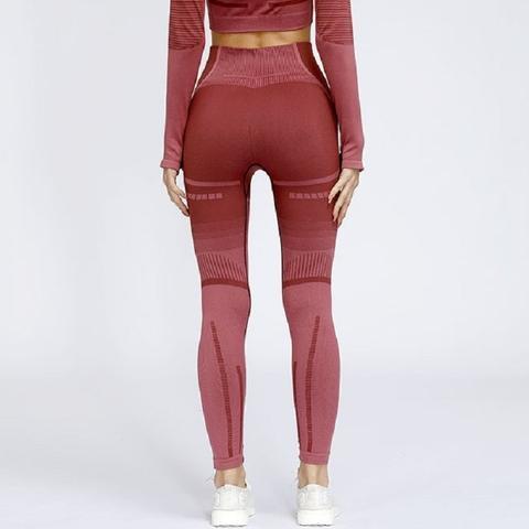 New Seamless Leggings Side Stripe Leggings Yoga Sets