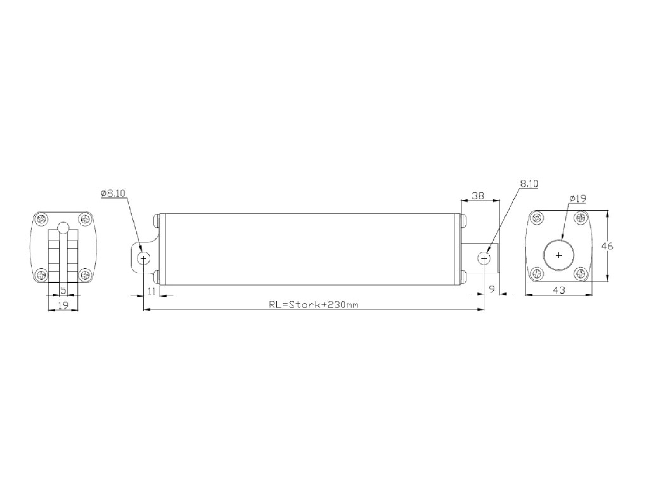 Taiwan Linear Actuator Inline Design Stroke Length From 2 To 16 220v Wiring Diagram Inch 180 Pounds Lbs 80 Kgs Maximum Lift 24 12 Volt Dc