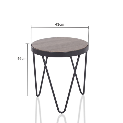 Black with walnut color attitude small table