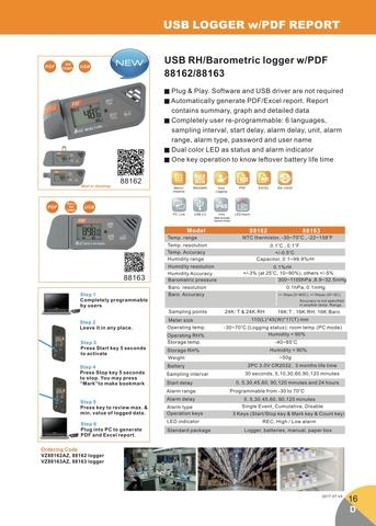 Barometric, Humidity and Temperature USB Data Logger