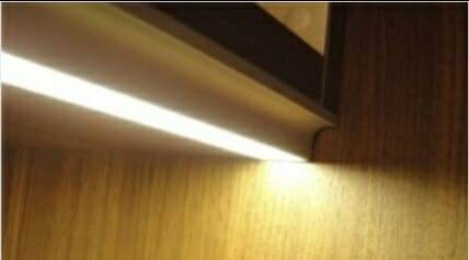 Under Cabinet Strip Lighting for Recessed Cabinets