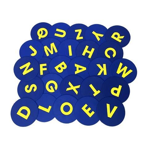 A-Z Engkish round mark mat