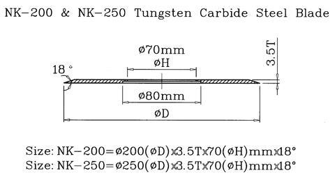 Taiwan Tungsten Carbide Steel Blade for Lead Cutting Machine