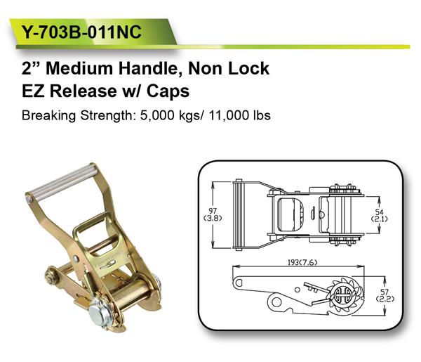[EZ LOAD] 2 Inch 50 mm 5000KGS for Non Lock Ratchet Belt Buckle
