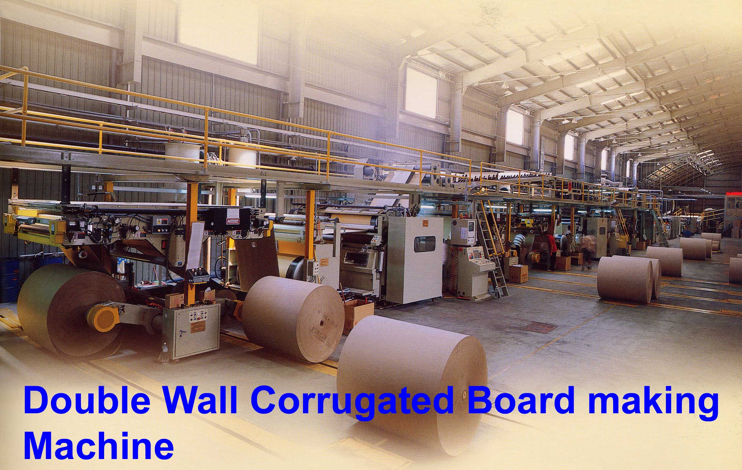Taiwan Corrugated Cardboard plant and Flexo Printer Folder Gluer for