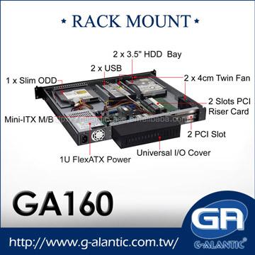 Taiwan GA160- 1U Rackmount Cases for Server mini ITX