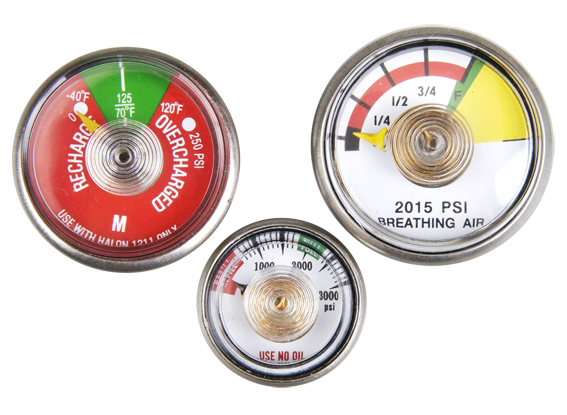 Taiwan Stainless Steel Pressure Gauge for Fire Extinguishers