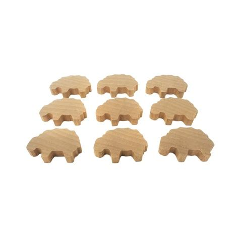 Wooden Sheep Family