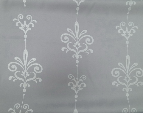 Golden printed black out curtain fabric - Home textile