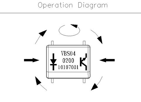 Taiwan Vbs040200t Photoelectric Vibration Sensor Switch