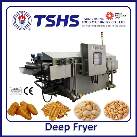 Industrial Continuous Stainless Steel Chicken Lpg Gas Fryer Machine