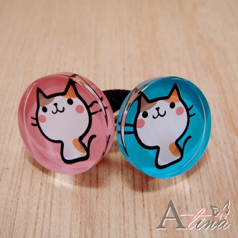 [Atina] Cute Cat Ponytail Holders, Hair Accessories, Hair Ornaments